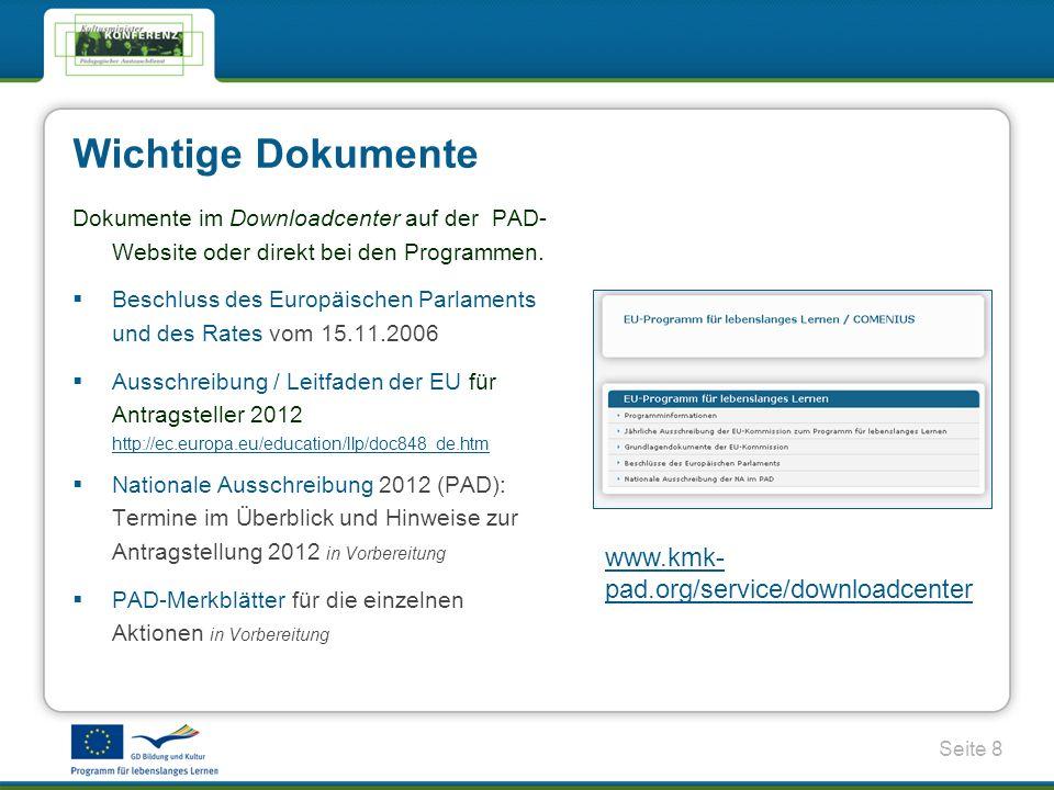 Wichtige Dokumente www.kmk-pad.org/service/downloadcenter