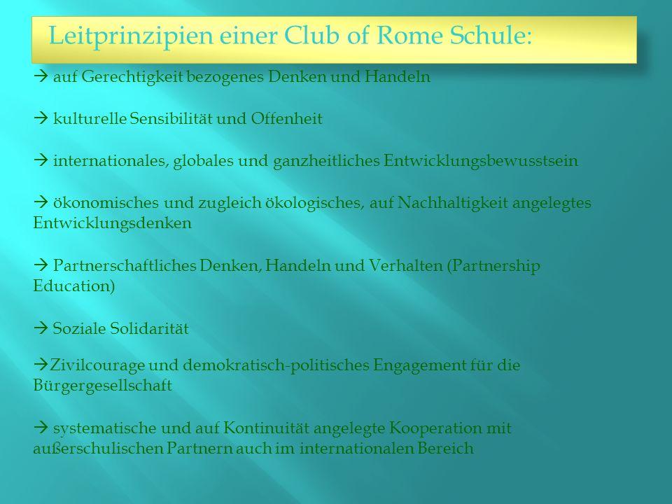 Leitprinzipien einer Club of Rome Schule: