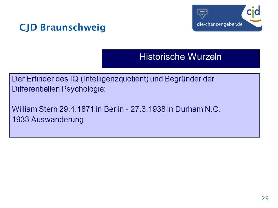 Historische Wurzeln Der Erfinder des IQ (Intelligenzquotient) und Begründer der. Differentiellen Psychologie: