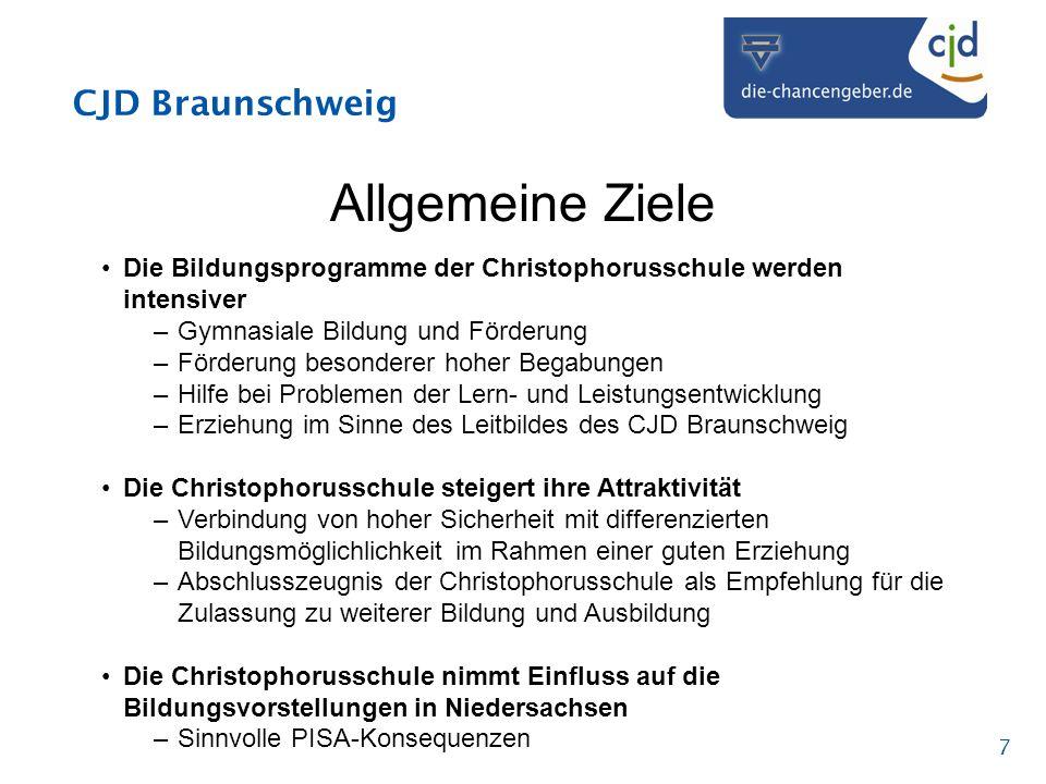 Allgemeine Ziele Die Bildungsprogramme der Christophorusschule werden intensiver. Gymnasiale Bildung und Förderung.