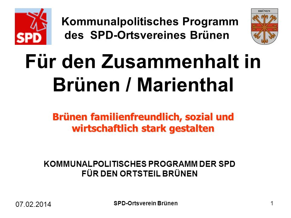 Für den Zusammenhalt in Brünen / Marienthal