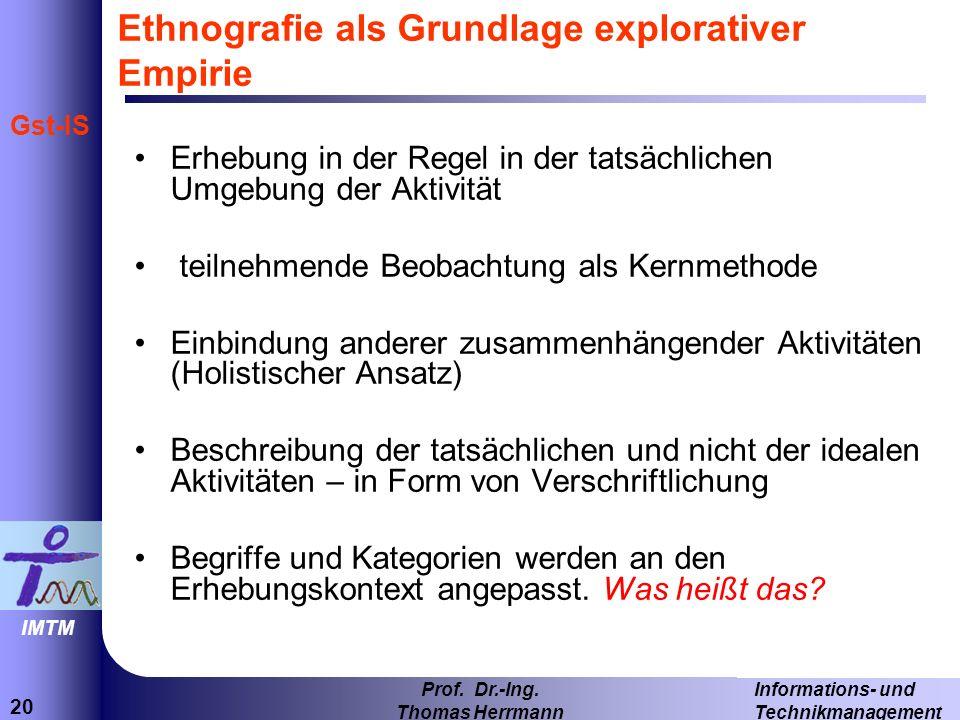 Ethnografie als Grundlage explorativer Empirie