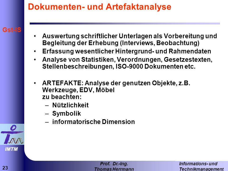 Dokumenten- und Artefaktanalyse