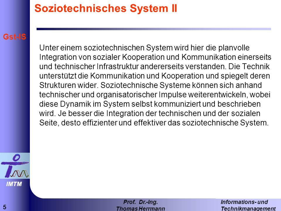 Soziotechnisches System II