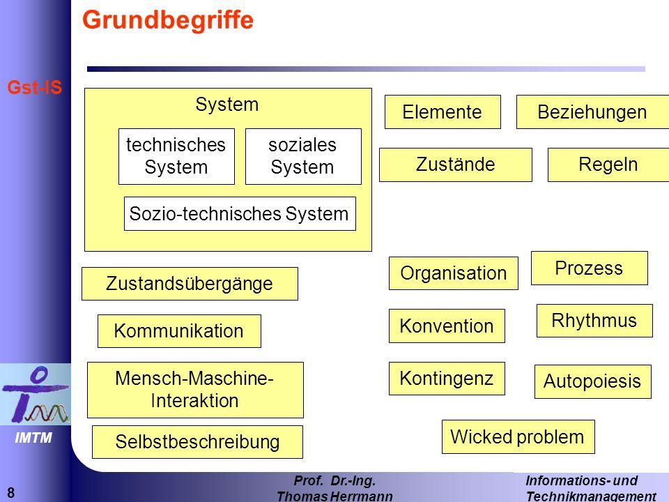 Grundbegriffe System Elemente Beziehungen technisches System