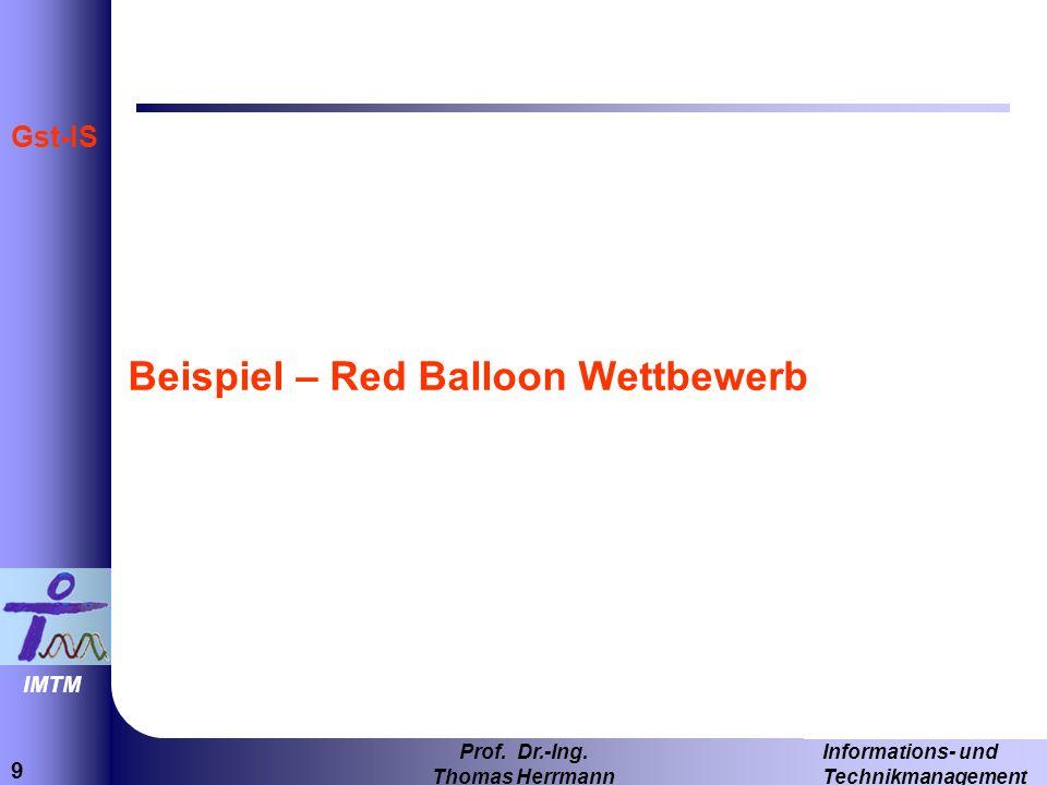 Beispiel – Red Balloon Wettbewerb