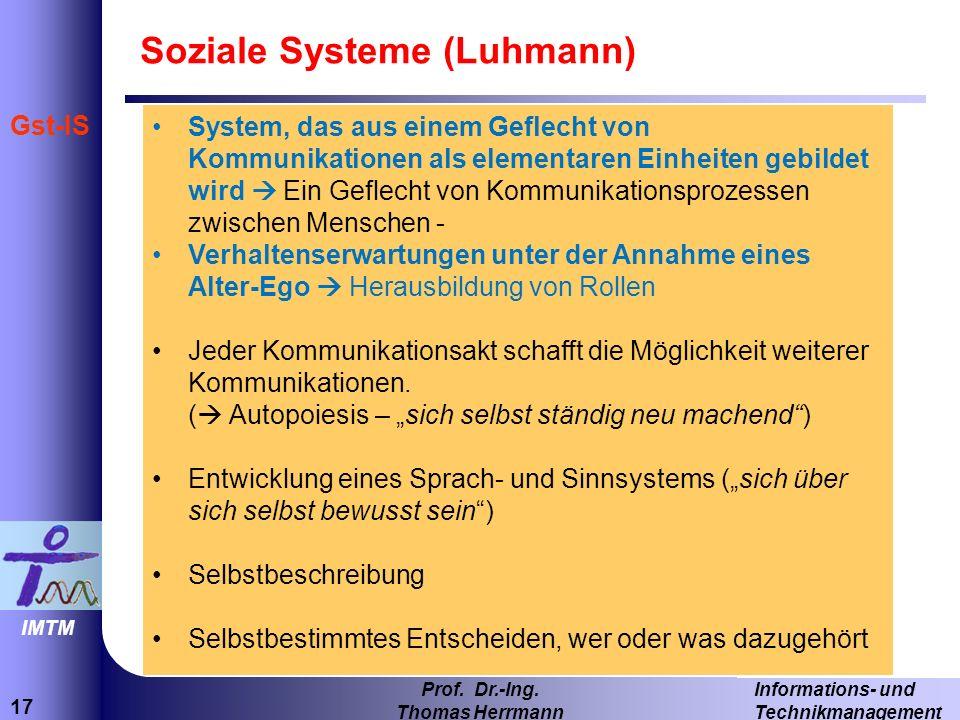 Soziale Systeme (Luhmann)