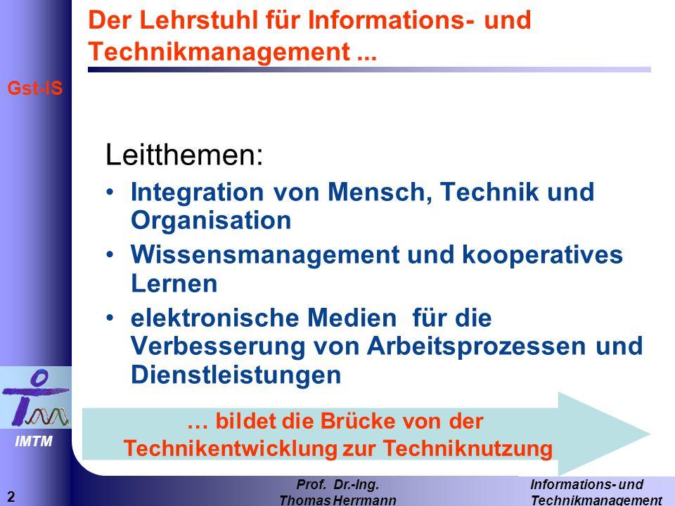 Der Lehrstuhl für Informations- und Technikmanagement ...