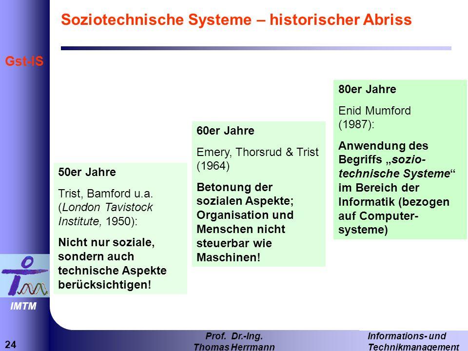 Soziotechnische Systeme – historischer Abriss
