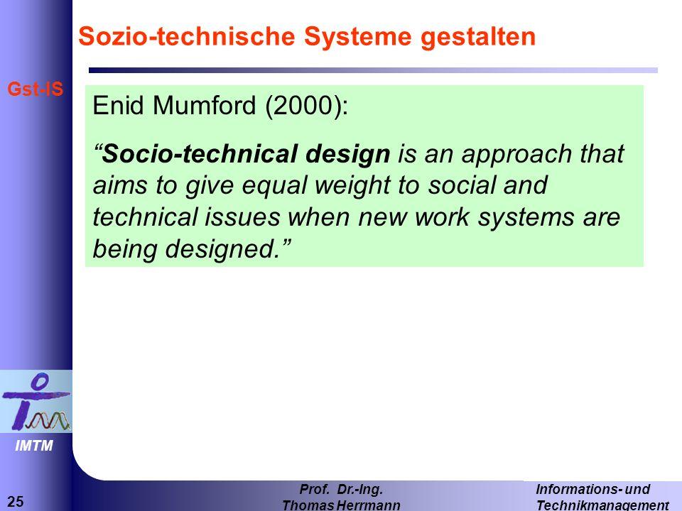 Sozio-technische Systeme gestalten