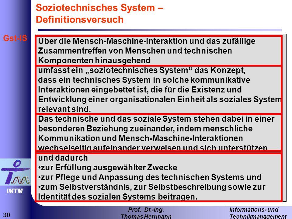 Soziotechnisches System – Definitionsversuch