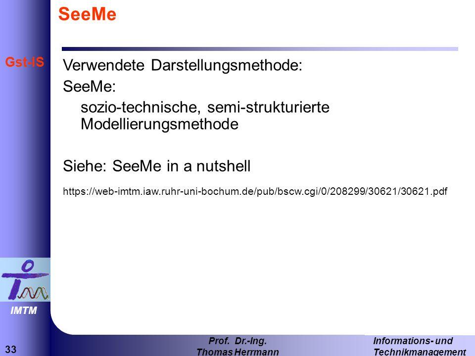 SeeMe Verwendete Darstellungsmethode: SeeMe: