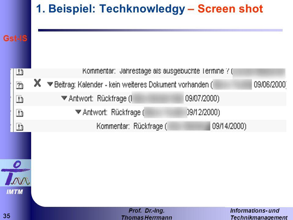 1. Beispiel: Techknowledgy – Screen shot