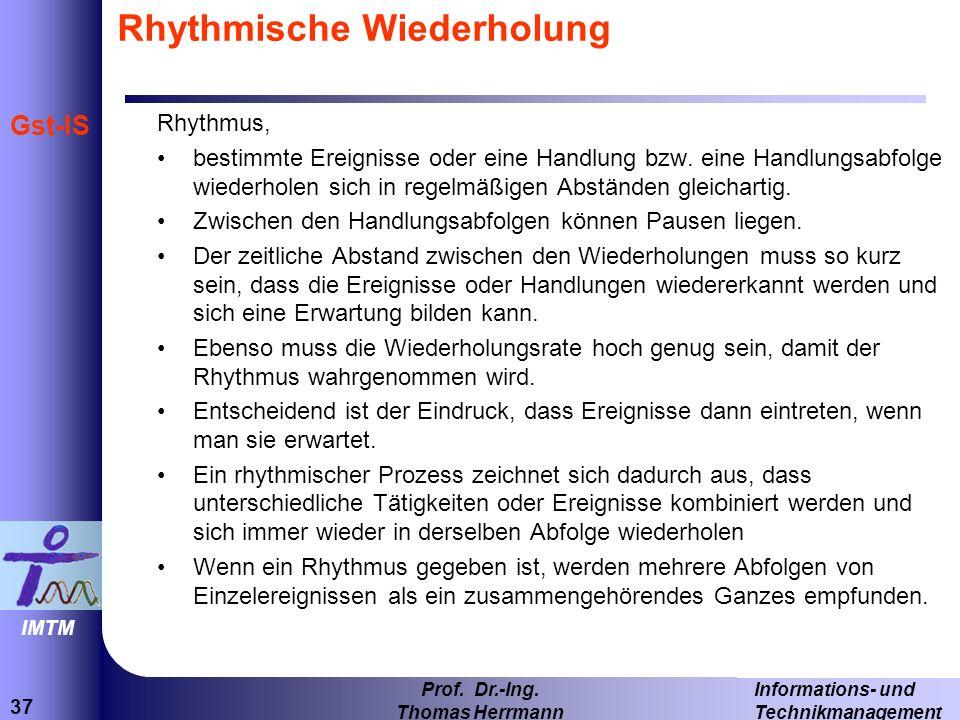 Rhythmische Wiederholung