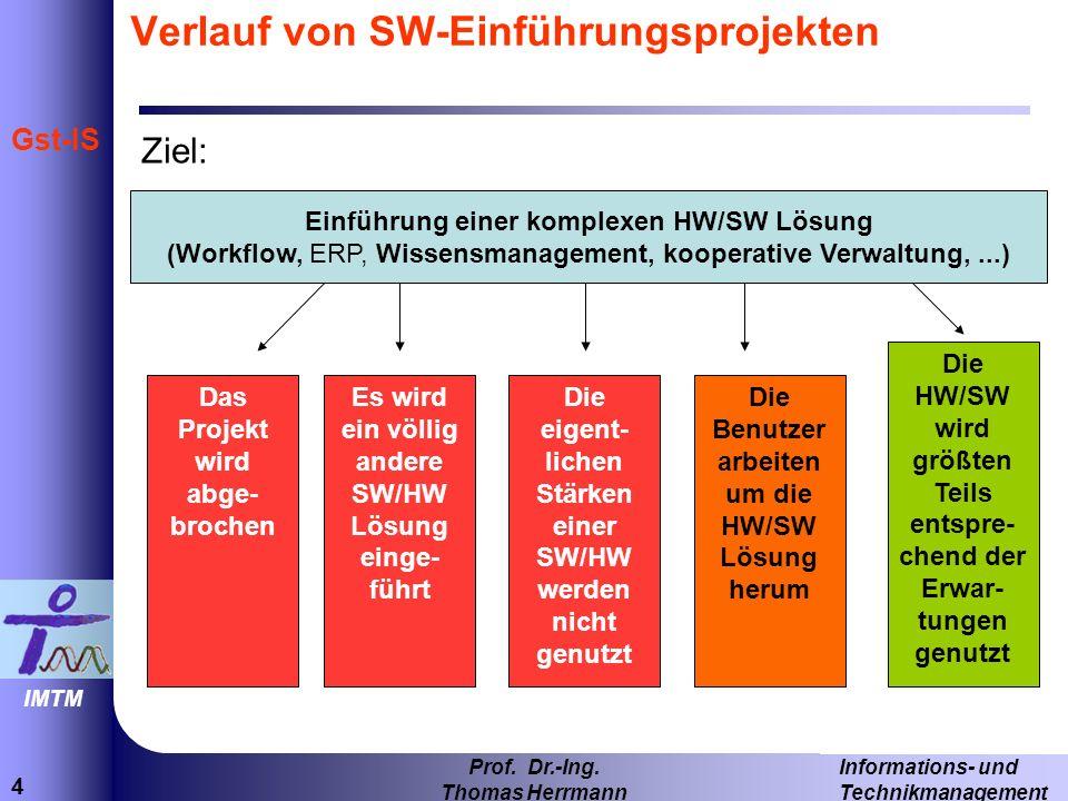 Verlauf von SW-Einführungsprojekten