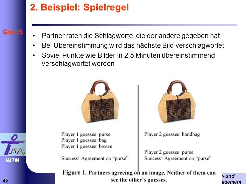 2. Beispiel: Spielregel Partner raten die Schlagworte, die der andere gegeben hat. Bei Übereinstimmung wird das nächste Bild verschlagwortet.