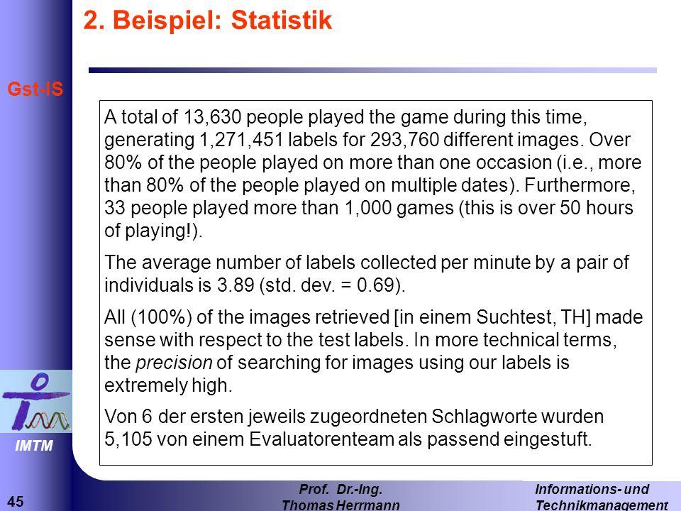 2. Beispiel: Statistik