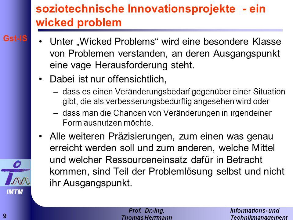 soziotechnische Innovationsprojekte - ein wicked problem