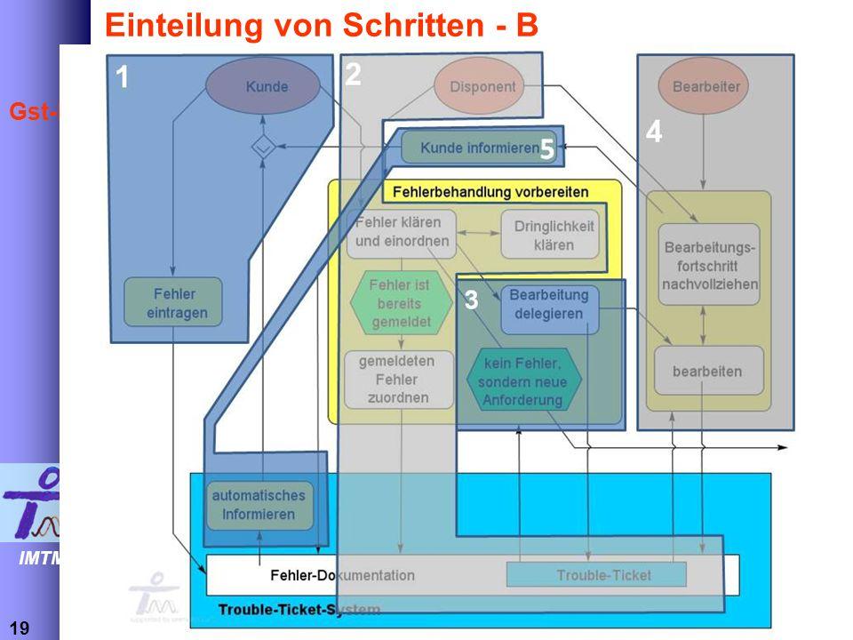 Einteilung von Schritten - B