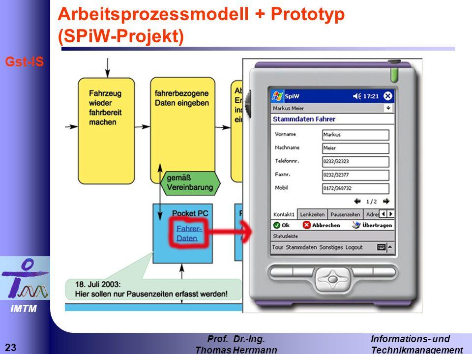 Arbeitsprozessmodell + Prototyp (SPiW-Projekt)