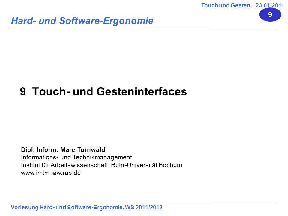 9 Touch- und Gesteninterfaces