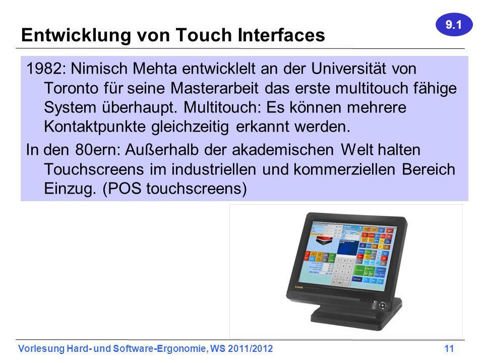 Entwicklung von Touch Interfaces