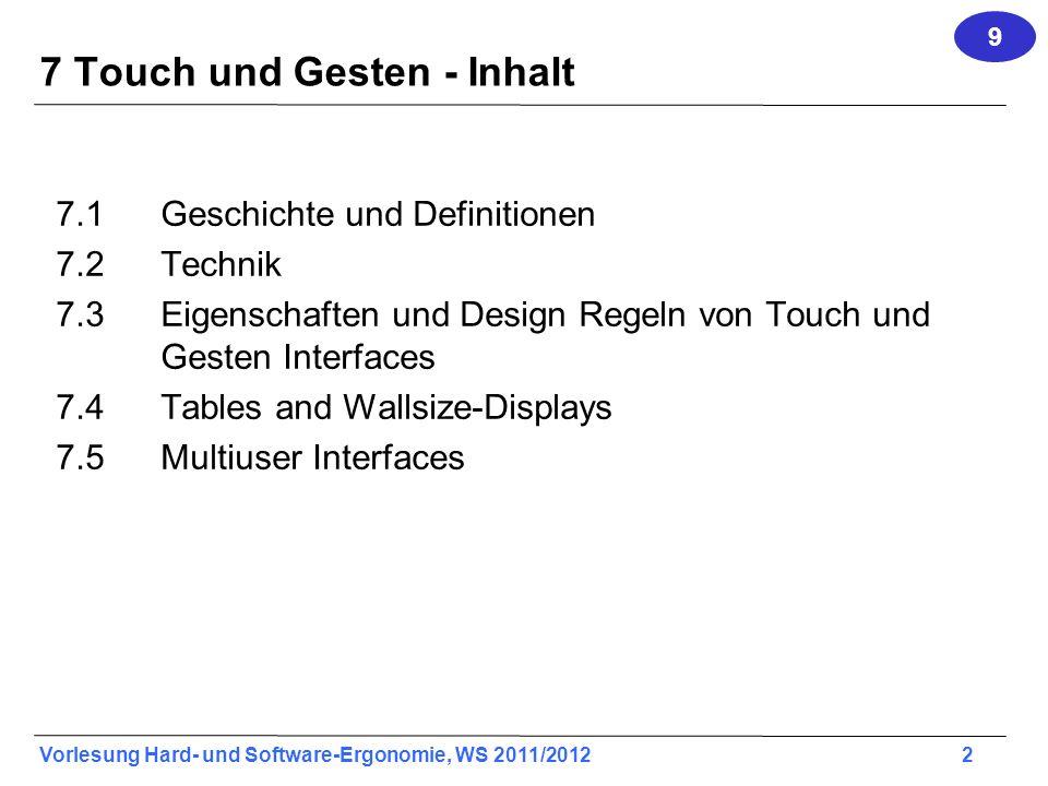 7 Touch und Gesten - Inhalt