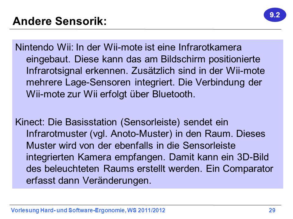 9.2 Andere Sensorik: