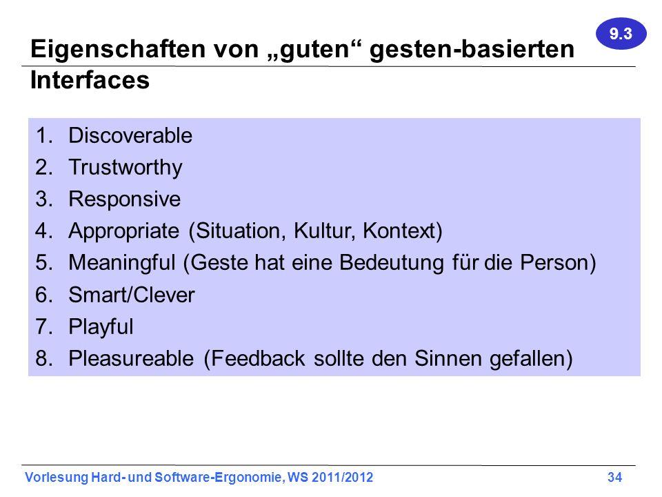 """Eigenschaften von """"guten gesten-basierten Interfaces"""