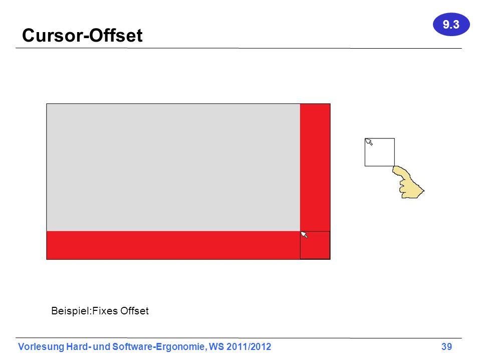 9.3 Cursor-Offset Beispiel:Fixes Offset