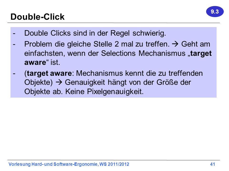 Double-Click Double Clicks sind in der Regel schwierig.