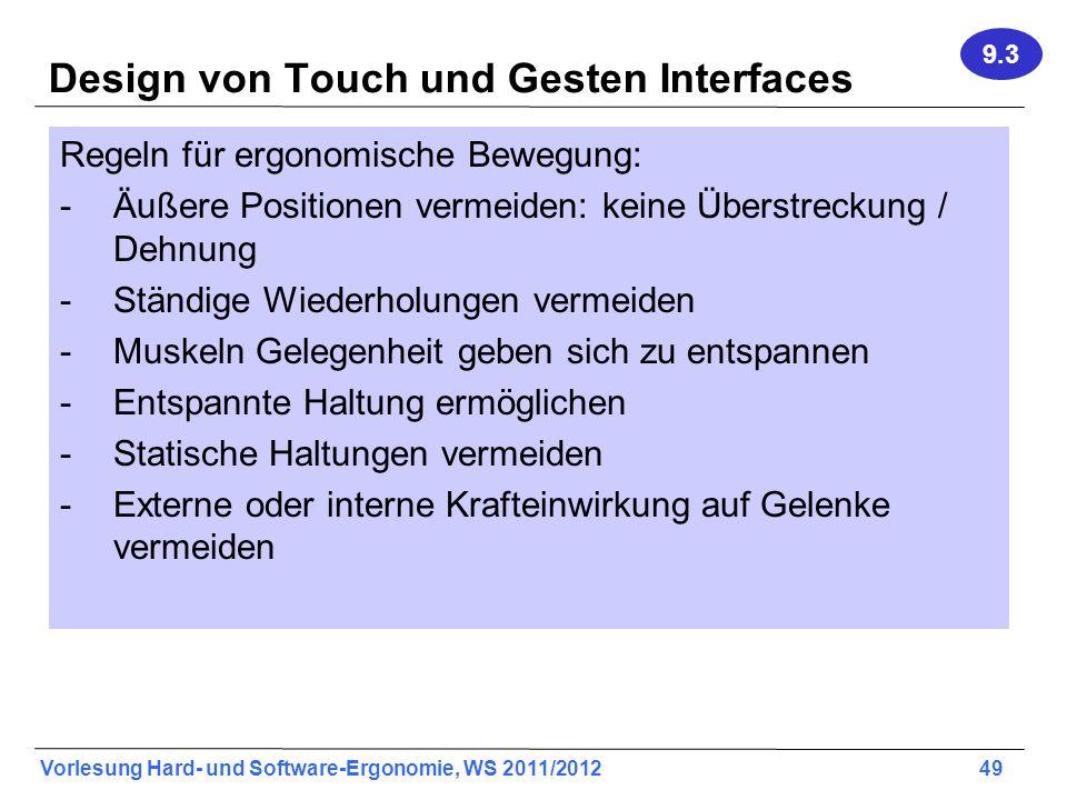 Design von Touch und Gesten Interfaces