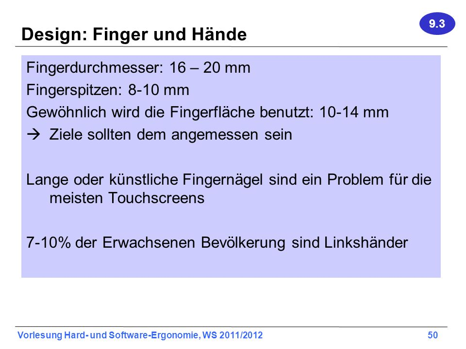 Design: Finger und Hände