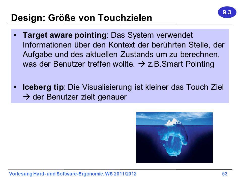 Design: Größe von Touchzielen