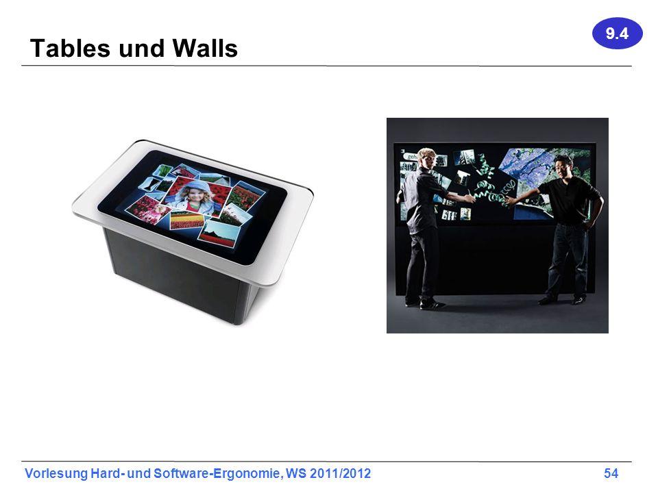 9.4 Tables und Walls