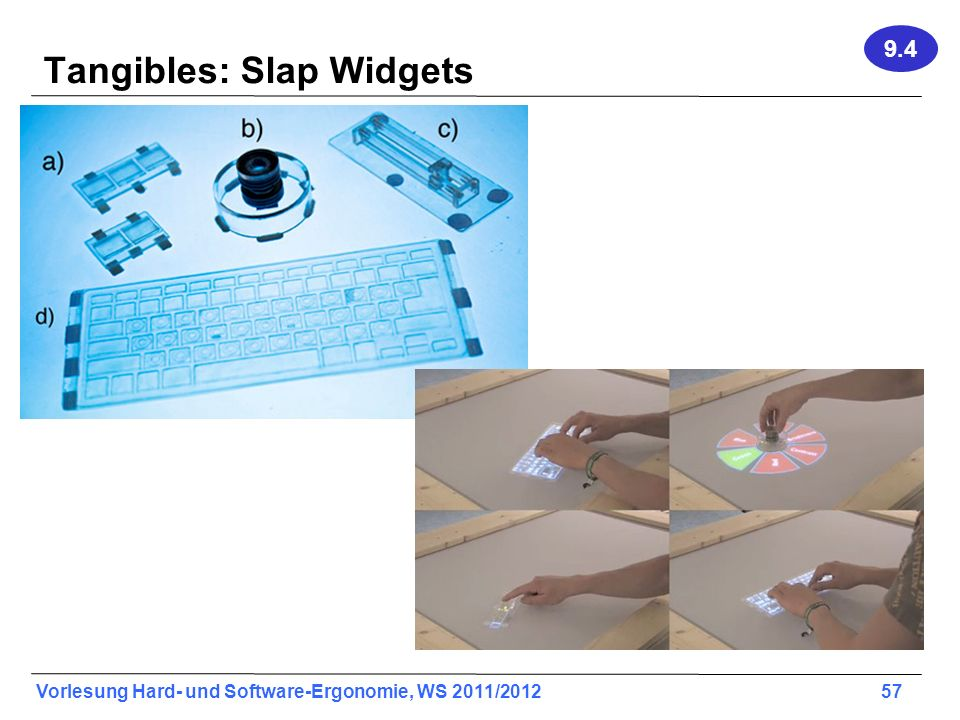 Tangibles: Slap Widgets