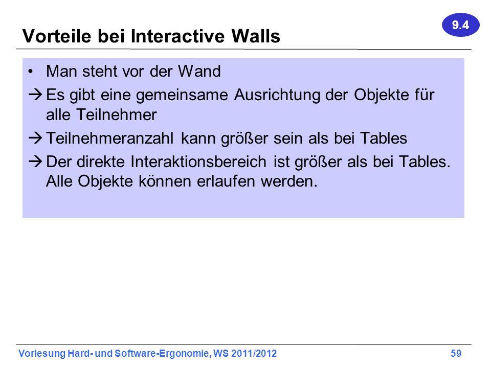 Vorteile bei Interactive Walls