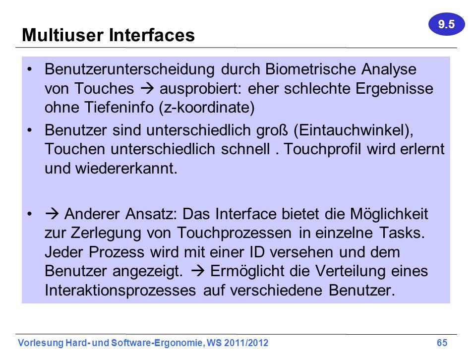 9.5 Multiuser Interfaces.
