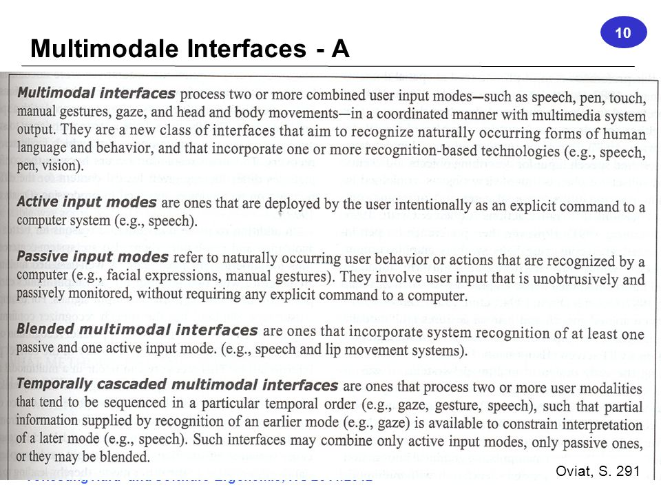 Multimodale Interfaces - A