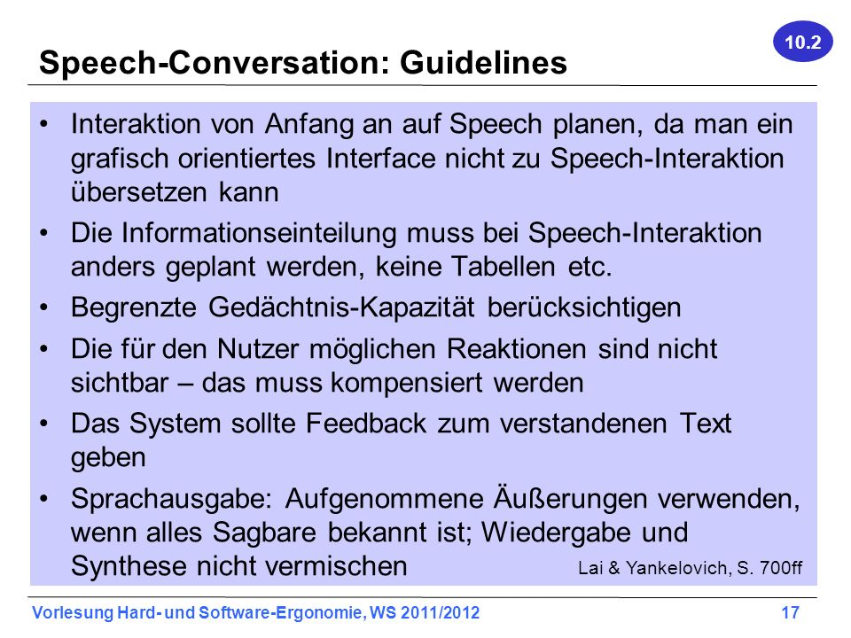 Speech-Conversation: Guidelines