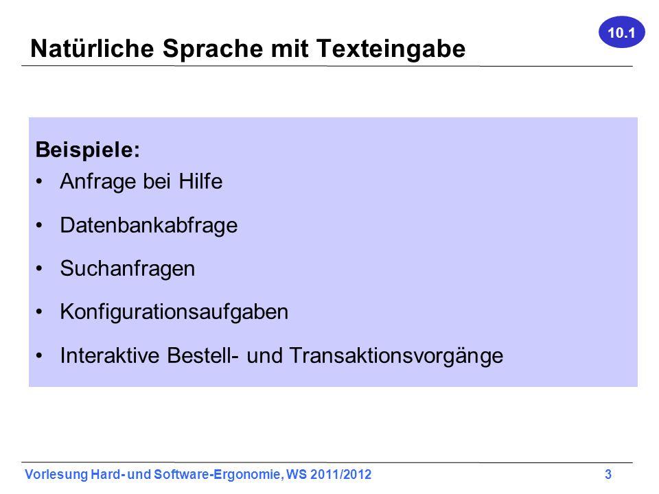 Natürliche Sprache mit Texteingabe