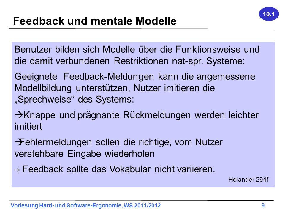 Feedback und mentale Modelle