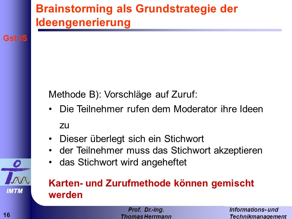 Brainstorming als Grundstrategie der Ideengenerierung