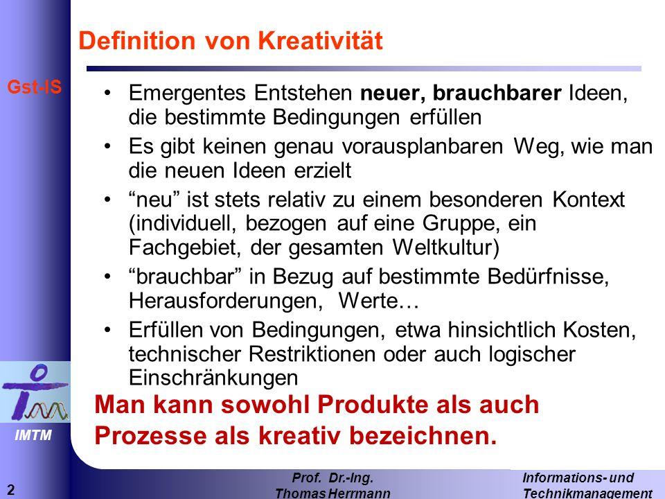 Definition von Kreativität