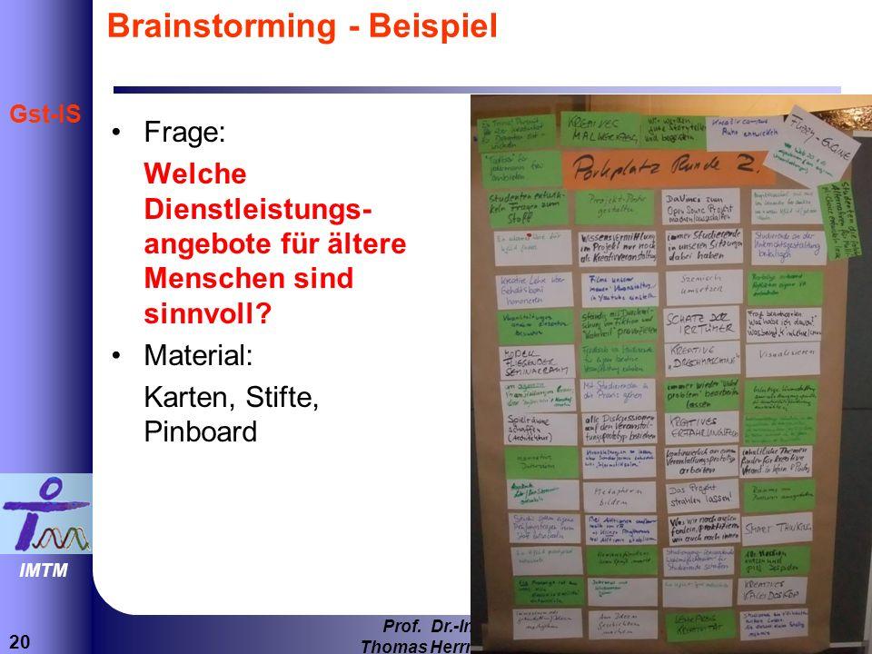 Brainstorming - Beispiel