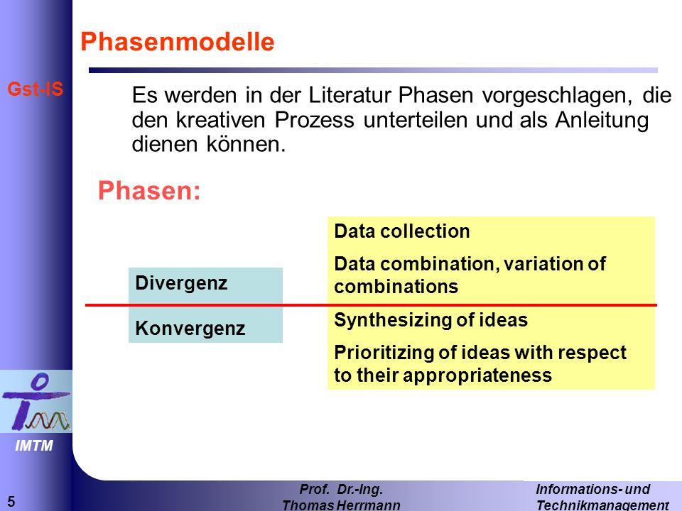 Phasenmodelle Phasen: