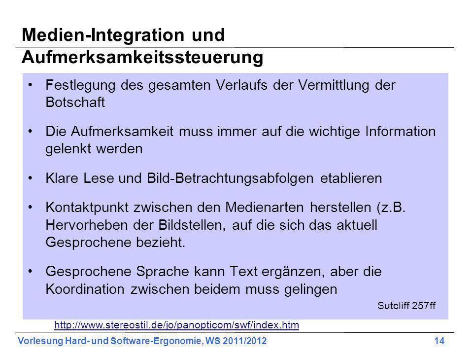 Medien-Integration und Aufmerksamkeitssteuerung