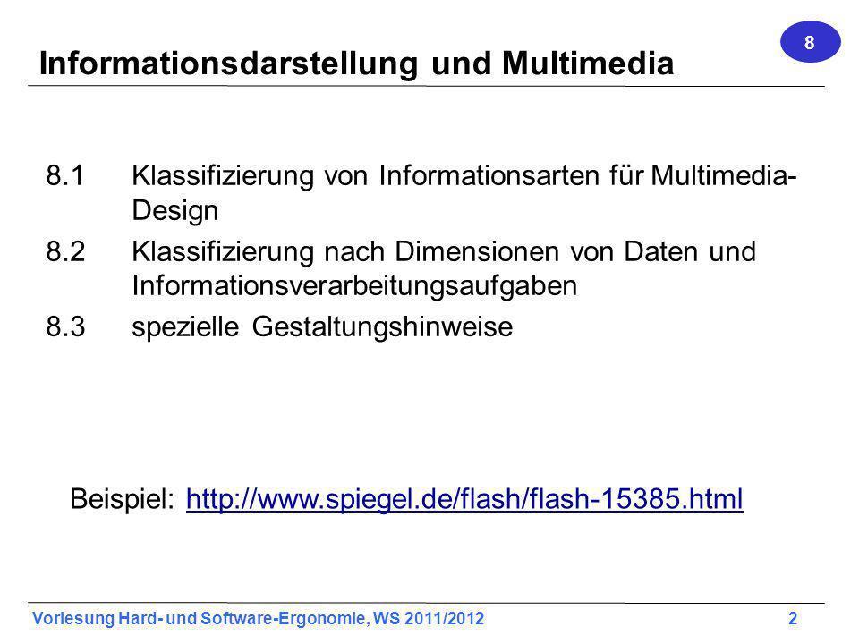 Informationsdarstellung und Multimedia