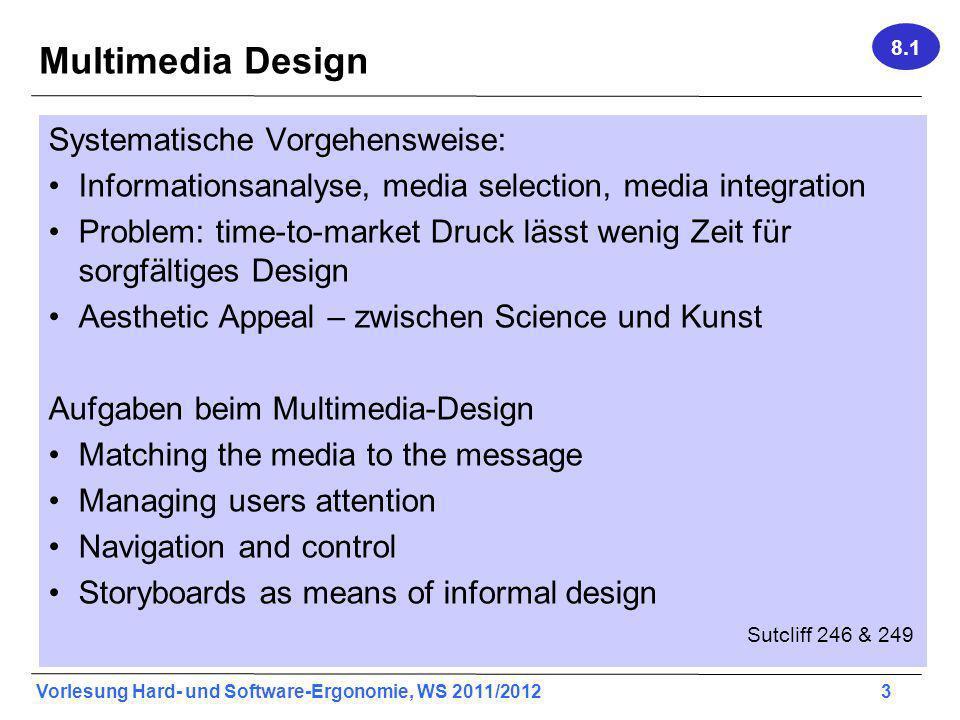 Multimedia Design Systematische Vorgehensweise: