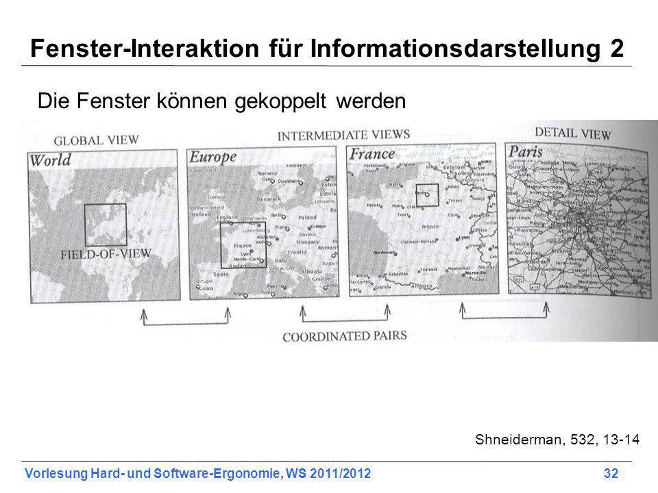 Fenster-Interaktion für Informationsdarstellung 2